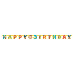 A rainbow of colors will brighten up your party decorations when you add this Curious George Banner, wishing your guest of honor a very happy birthday! Banner measures 6ft x 5in when hung.