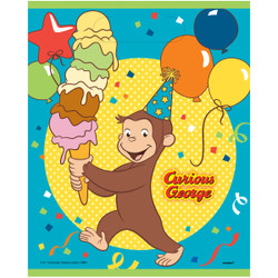 """Make a bunch of monkeys happy and send them home with our Plastic Curious George Goodie Bags. Each plastic favor bag measures 9 by 7-inches and comes with a cute Curious George design that kids will love. Use these Curious George goodie bags to hold a fun assortment of candy and party favors for your little guests, then pass them out at the end of your Curious George birthday party. Make sure to check out the rest of our Curious George party supplies for more fun ways to have a swingin' time! 8 Plastic Curious George Favor Bags (9"""" x 7"""") Fill Curious George Goodie Bags with candy and favors Use Curious George themed party supplies for a boy's birthday party"""