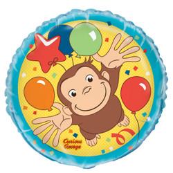 "Curious George Round Foil Balloon 18"","