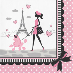 Pink Party in Paris Lunch Napkins