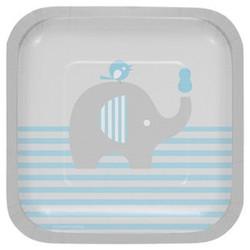 Little Peanut Boy Elephant Dessert Plates