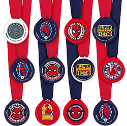 Spider-Man Webbed Wonder Award Medals 12ct