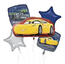Cars 3 Balloon Bouquet 5pc