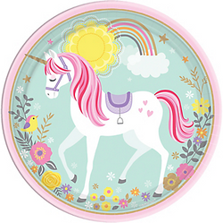 Magical Unicorn Dinner Plates 8ct