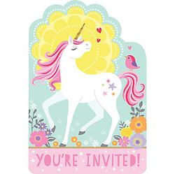 Magical Unicorn Invitations 8ct
