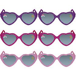 Glitter Magical Unicorn Sunglasses 6ct