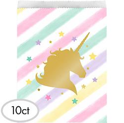 Sparkling Unicorn Treat Bags 10ct