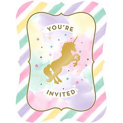 Sparkling Unicorn Invitations 8ct