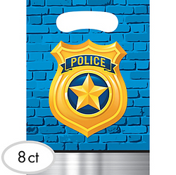 Police Favor Bags 8ct