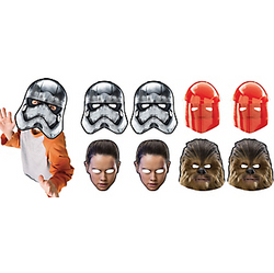 Star Wars 8 The Last Jedi Masks 8ct