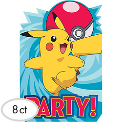 Pokemon Core Invitations 8ct