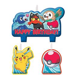 Pokemon Core Birthday Candles 4ct