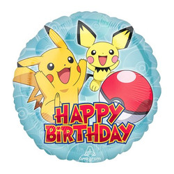 "Pichu and Pikachu ""Happy Birthday"" Foil Party Balloon"