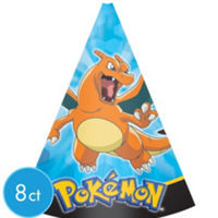 Pikachu & Friends Paper Cone Hats 8 Count