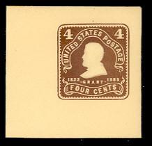U391 4c Chocolate on Amber, Mint Full Corner