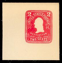 U395 2c Carmine on White, Mint Full Corner