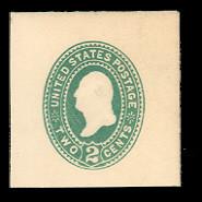 U318 2c Green on White, die 3, Mint Full Corner, 40 x 40