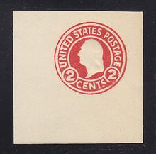 U429c 2c Carmine on White, die 4, Mint Cut Square, 47 x 47