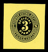 UO2 3c Black on Lemon Mint Cut Square, 36 x 40