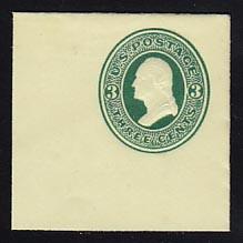 U83 3c Green on Amber, Mint Full Corner, 50 x 50