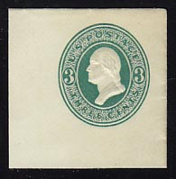 U159 3c Green on White, die 1, Mint Full Corner, 45 x 45
