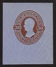 U339 30c Red Brown on Blue, Mint Full Corner, 42 x 50