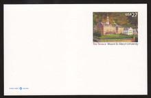 UX533 27c Mt Saint Mary's University Mint Postal Card