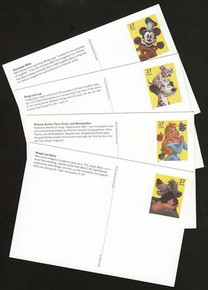 UX535-38 27c Art of Disney, Imagination Mint Postal Cards