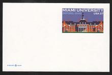 UX554 27c Miami University Mint Postal Card