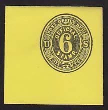 UO12 6c Black on Lemon Mint Full Corner, 50 x 50