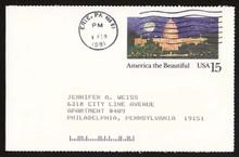 UX142 UPSS# S157-4 15c Washington Used Postal Card