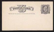 """UX7 UPSS# S6 1c Liberty Head, """"Nothing but addr..... Clean Face Postal Card"""