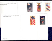 UX390-94 UPSS# 404-8 23c Old Glory Mint Postal Cards