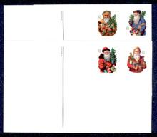 UX377-80 UPSS# 391-94 21c Santa Claus Mint Postal Cards
