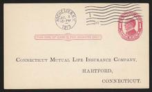 UX24 UPSS# S33 1c William McKinley, Red on Cream, Used Postal Card