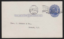 UX21 UPSS# S28 1c William McKinley, Blue on bluish, Shaded Background Used Postal Card