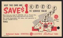 UX47 UPSS# S64-2 2c + 1c GE Card, Type 2, ETR 1305-2, Unused Postal Card