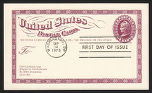 UX65a UPSS# S82a 6c Liberty Head Postal Card First Day Postal Card, TAG Missing