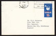 UX59 UPSS# S78 10c USA Map Postal Card, Used to England