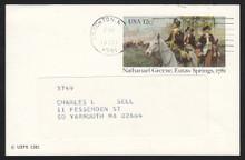 UX90 UPSS# S107 12c Eutaw Springs Used Postal Card.