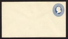 U75 UPSS # 147 1c Blue on Amber, Mint Entire