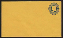 U76 UPSS # 149 1c Blue on Orange, Mint Entire