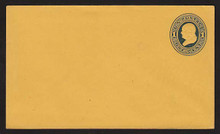 U76 UPSS # 151 1c Blue on Orange, Mint Entire