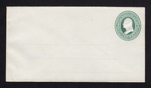 U82 UPSS # 166A 3c Green on White, Mint Entire with Ruled Lines