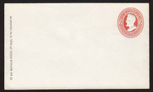 U85 UPSS # 204 6c Red on White, Mint Entire, GR