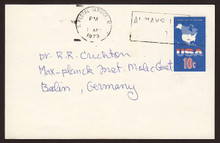 UX59 UPSS# S78 10c USA Map Postal Card, Used to Germany