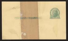 UX27 UPSS# S37EPUv-3 1c Thomas Jefferson, Green on Buff, Paste-up, Mint Postal Card