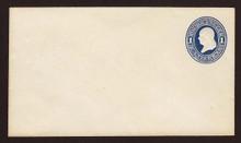 U108 UPSS # 254 1c Dark Blue on White, die 1, Mint Entire
