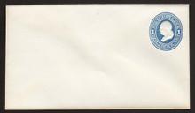 U113 UPSS # 262a 1c Light Blue on White, die 2, Mint Entire