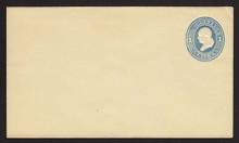 U114 UPSS # 272-5 1c Light Blue on Amber, die 2, Mint Entire